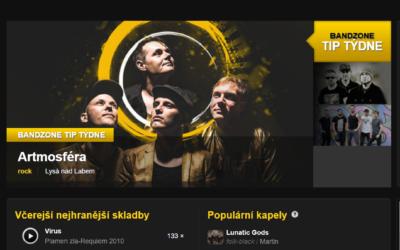 Jsme Tip Týdne na Bandzone.cz!